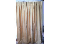 huge pair custom made fully lined pinch pleat curtains with pelmet