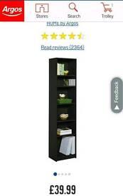 3 Argos book shelves