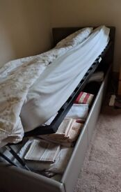 Single side opening storage bed.
