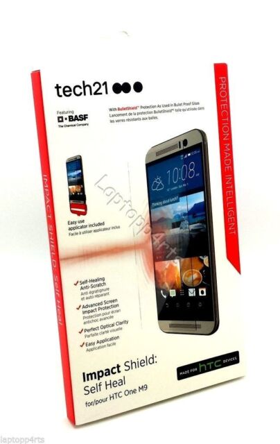 Genuine Tech21 Impact Shield Self Heal Screen Protector For HTC One M9 Clear NEW