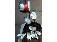 Callaway irons, driver, 5-wood, hybrid, ODYSSEY putter, COBRA bag & Lots of Extra golf stuff - FTSWB