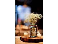 6no. Glass jar table centres **party/wedding**