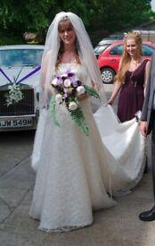 Beautiful size 10 wedding dress