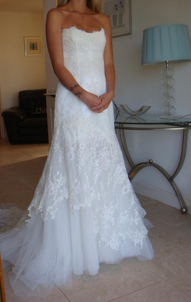 Cymbeline Paris strapless lace and tulle wedding dress mermaid style ...