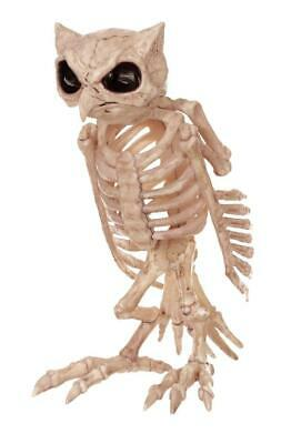 LIFE SIZE OWL SKELETON BONES HAUNTED HOUSE Outdoor Halloween Decor Prop YARD
