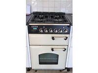 Leisure Range style Free standing gas cooker, cream with brass