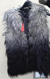 Replay-Dip Dye Fur Gilet Size XL