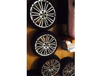 Mk4 golf r32 alloy wheels 18inch nearly new tyres quick sale