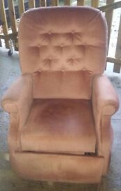 Electric Reclining chair (it rises to aid standing up)