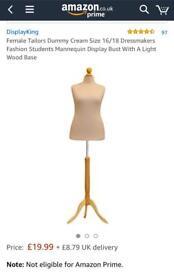 Dress form/mannequin size 16/18