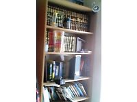 Tall, wooden bookcase
