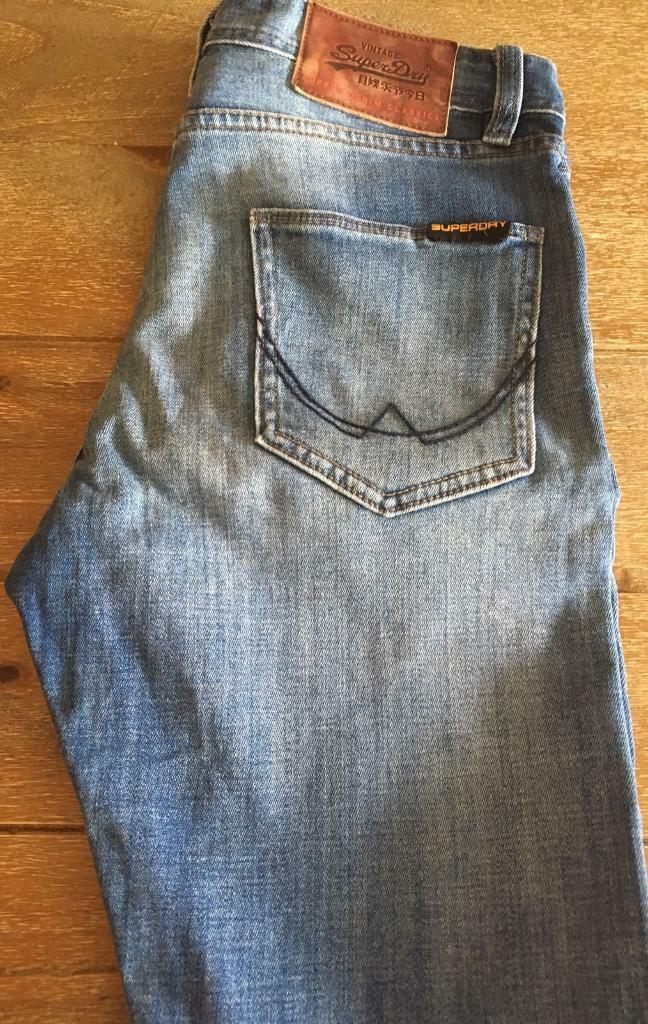 """Men's Superdry Super Skinny Jeans 30"""" W 30""""L"""