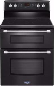 NEW  30'' range, Double oven, /Black, Maytag