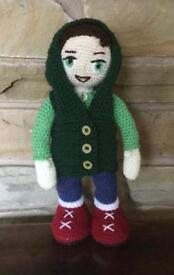 Crochet Doll With Removeable Hoody