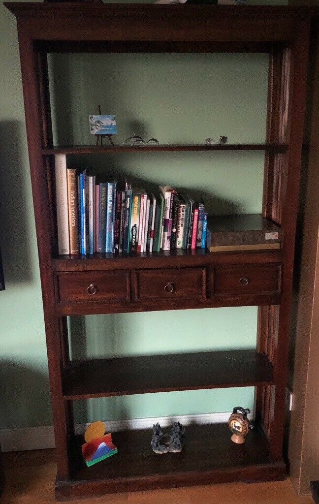 Solid Antique Teak Bookshelf