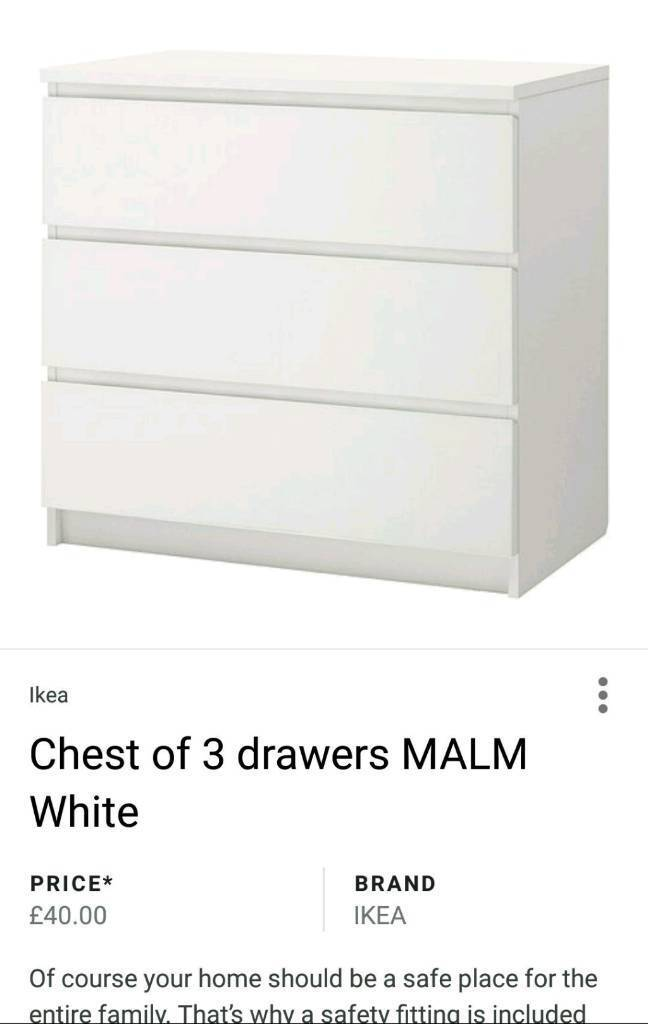 2 X Chest of 3 drawers from IKEA