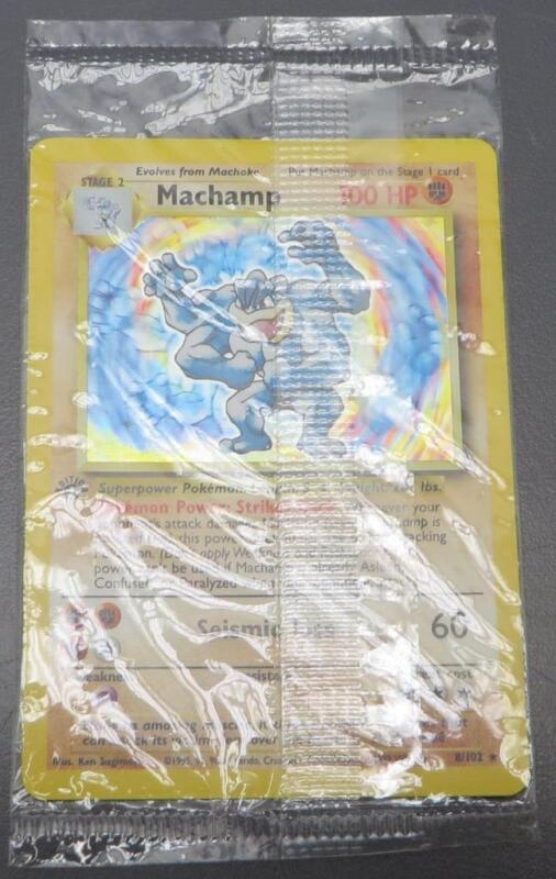 Pokemon Machamp 1st Edition Base Set 8/102 Shadow Holo Rare 1999 Wizards MINT