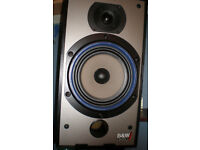 """PAIR OF SPEAKERS WITH 19"""" CABINETS AND 8"""" ROUND SPEAKERS"""