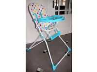 iSafe High Chair YummyLUV - Smarties Blue\Turquoise Dots