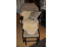 Swivel and Rocker chair,matching rocking foot stool. Very sturdy metal frame