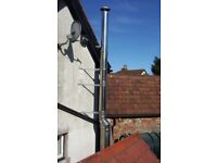 Twin wall Selkirk insulated stainless steel flue