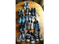 Selection of shoes and football boots