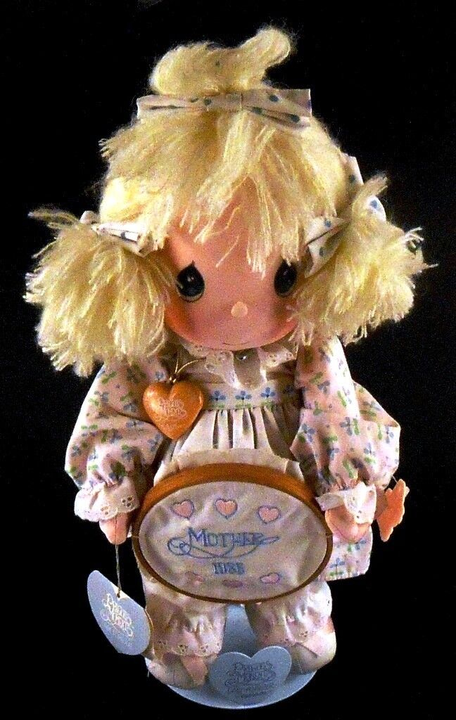 Precious Moments Collectible Doll KATIE Mother s Day 1986 With Tags PM Stand - $19.79