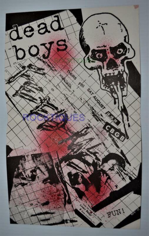 DEAD BOYS Vintage 1977 Concert Flyer CBGBs NM VERY RARE KBD DTK PUNK Stiv Bators