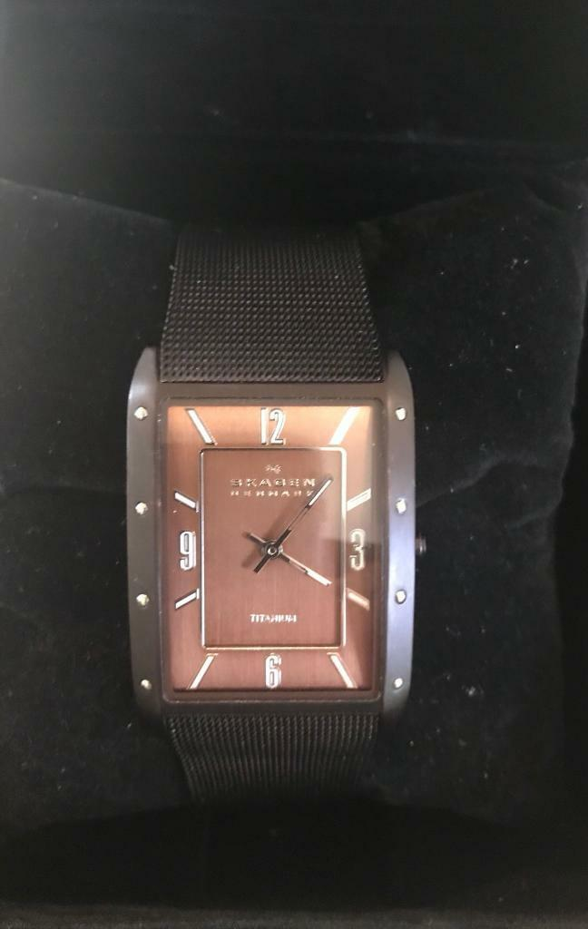 Gents Titanium Skagen Watch