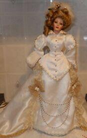 "Rare Vintage Franklin Mint 21"" Heirloom Gibson Girl Katrina"