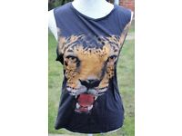 TOPSHOP ladies tiger print top UK10