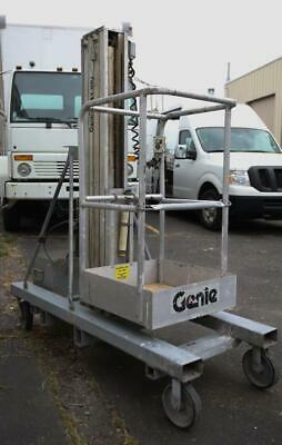 Genie Peu-19dc 19 Electric Aerial Work Lift With Wheeled Platform Stabilizer