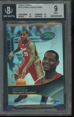 2003 eTopps #43 LeBron James RC Rookie Mint BGS 9