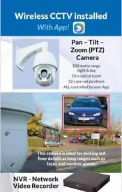Wirefree alarm and CCTV