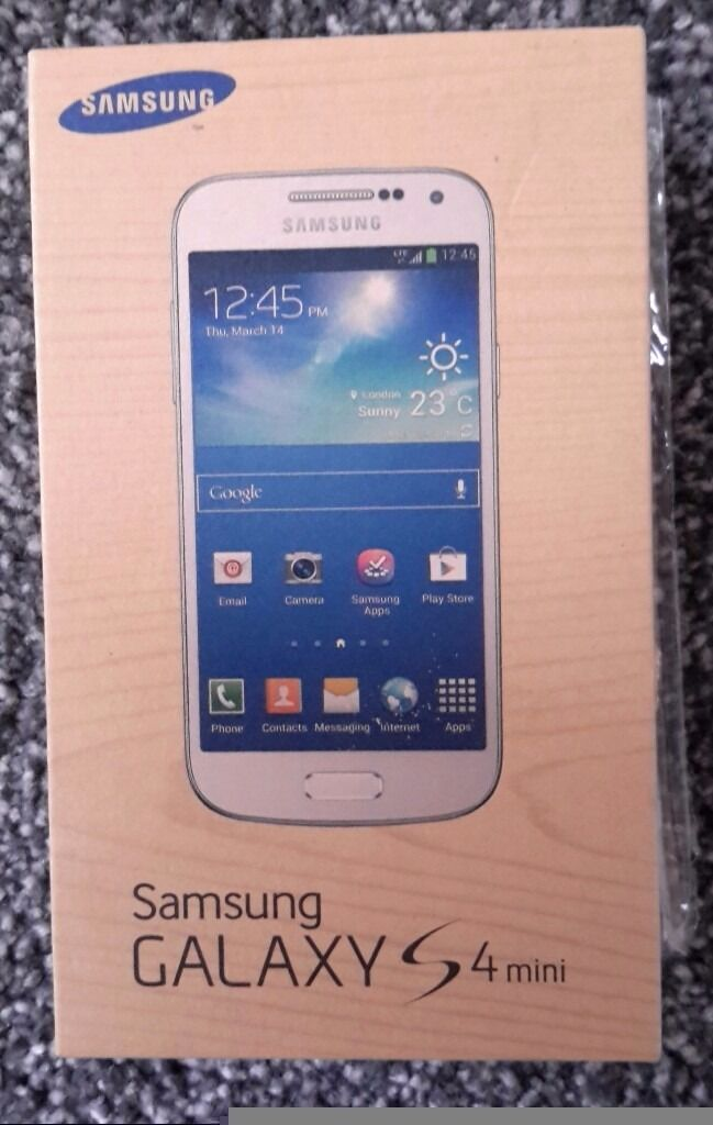 Samsung Galaxy S4 Mini White. Boxed with all accessoriesin Plymouth, DevonGumtree - Samsung Galaxy S4 mini in white. Excellent condition ideal for christmas present. Also includes 10 protective screen covers and leather mobile case. Boxed with all accessories. Buyer collects