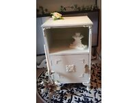 Gorgeous French Shabby Chic *BEDSIDE CABINET* Queen Anne Legs Rococo Regency