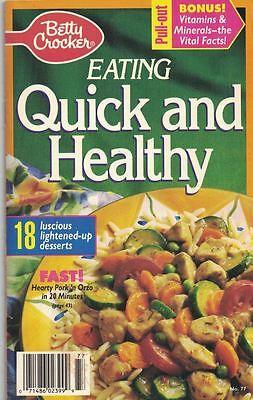 Betty Crocker Eating QUICK & HEALTHY Cookbook #77 1992 - Halloween Food Games