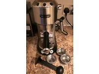 DeLonghi Dedica Coffee Machine Barista style with Frother