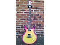 Daisy Rock Stardust Elite Classic Violet Burst electric guitar inc. soft gig bag