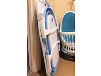 Babyway Karibu Foldable Bath & Angelcare Soft Touch Bath Support Blue