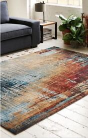 Salvage Abstract Rug - 1/2 Price . As New 200x285cm