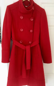Red coat women size 12 from Next
