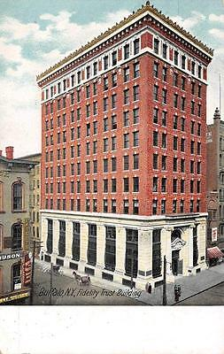 BUFFALO, NY  New York   FIDELITY TRUST BUILDING  Horse & Buggy 1907 UDB Postcard