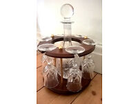 Decanter, 6 glasses and stand - never used