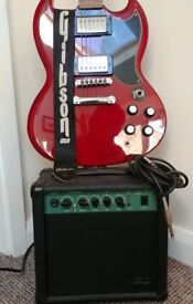 Electric guitar ACDC Epiphone G400 SG + Amp Stagg + Pedal Effects