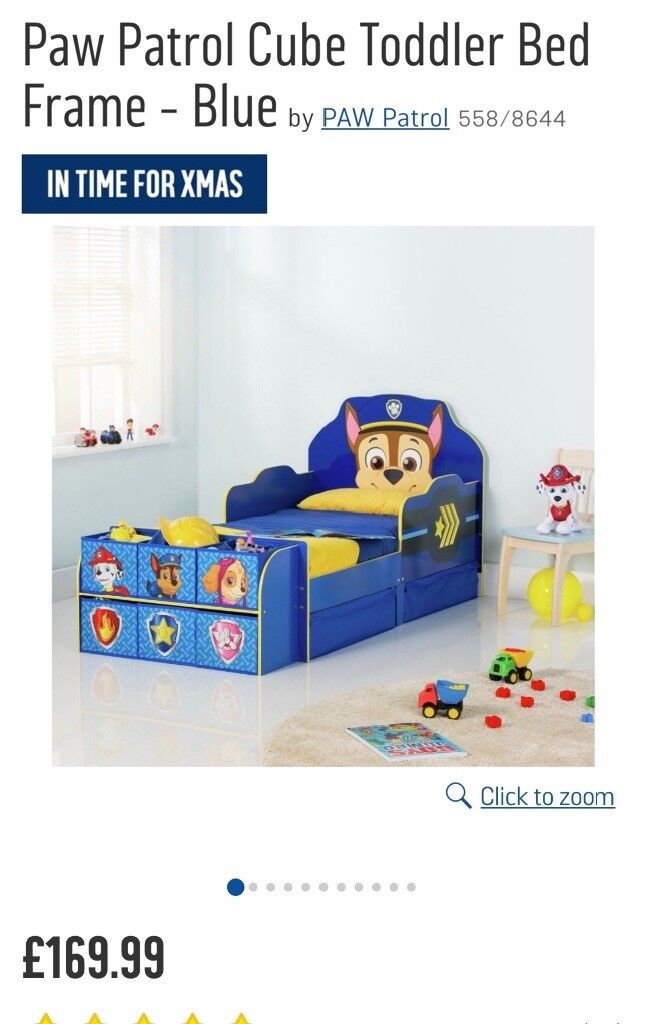 Toddler Bed Chase Paw Patrol Bookcase