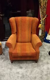 Fabulous Large Traditional Wing Back Chair