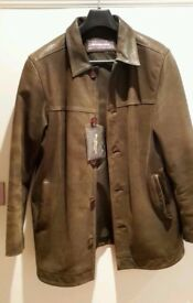 Ben Sherman genuine nubuck leather jacket - from smoke and pet free home