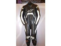 Alpinestars Tech 1-R One Piece Motorcycle Leather Race Suit - EU 54 / UK 44 - BB Bike Leathers