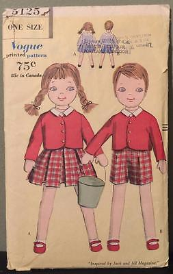 Vtg Vogue Doll Pattern 5125 1960 Facory Folded Unused